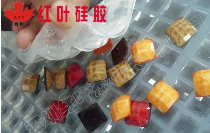 供应MJ2235A/B双组分加成型液体硅橡胶仿宝石专用模具胶
