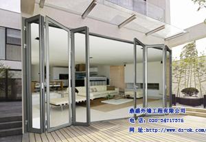 双层玻璃铝合折叠门广州东莞佛山深圳
