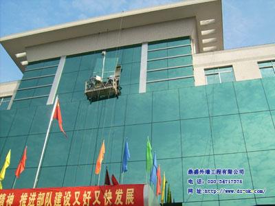 高空玻璃幕墙补片维修