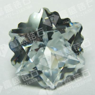 供应心形锆石裸石、宝石工艺品、八心八箭锆石、苏联钻裸石