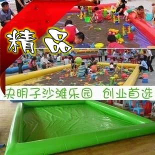 儿童充气城堡价格 创业首选充气沙滩池 欣怡充气沙池质量有保障