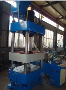 盛丰PLC控制面板四柱液压机,400吨四柱三梁液压机