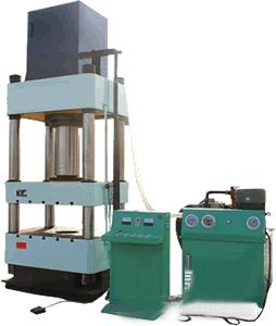 盛丰100吨四柱三梁结构液压机,100吨半自动四柱三梁液压设备
