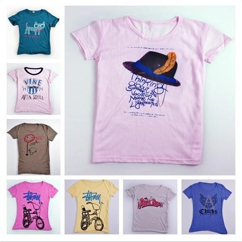 韩版夏装进货网夏季女装哪里进货网上短袖圆领T恤批发