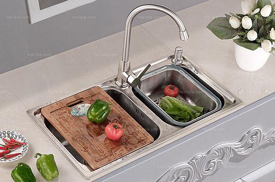[卓美欧] 现代风格 不锈钢双槽厨盆