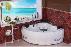 [纳科洁具] 现代风格 扇形按摩浴缸
