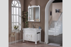 [诺珂] 现代风格 纯白实木浴室柜JY-926-TZ