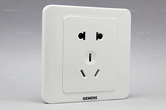 [西门子] 现代风格 雅白一位10A联体二三极插座