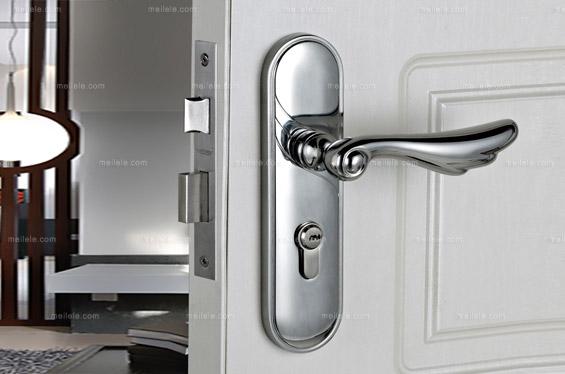 [威士] 现代风格 锌合金带钥匙房门锁