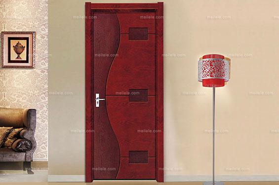 [欧洛堡] 美式古典 深色实木复合门