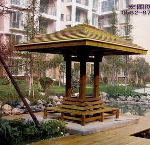 供应青岛景观木凉亭