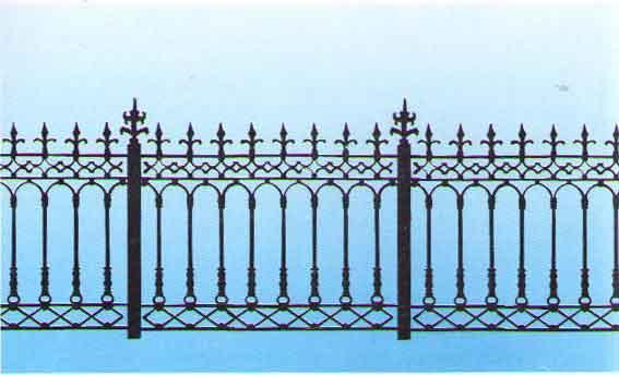 鹰潭市护栏铸铁,栏杆铸铁,围栏铸铁,多层围墙,铁铸铁建筑设计v护栏图片