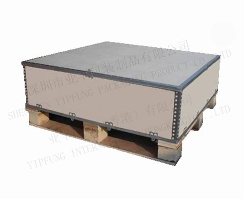 深圳钢带箱厂家供应钢框架包装箱 提供出口Rohs报告