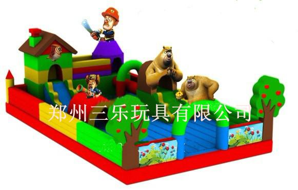 小型儿童充气蹦蹦床价格-熊出没乐园