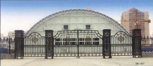北京亦庄欧式铁艺门铁艺围墙大门定做安装13241491626