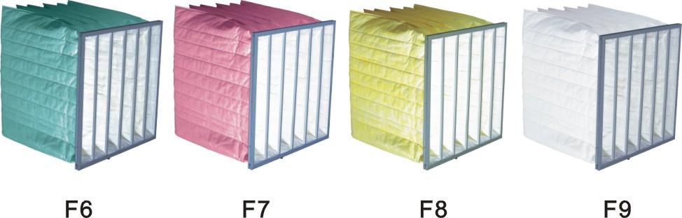 袋式过滤器,F8F9亚高效中效过滤器,镀锌框袋式过滤器特价