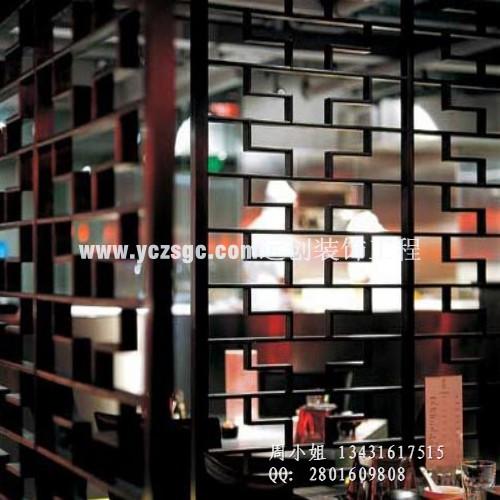 拉丝黑钛不锈钢花格隔断,装饰不锈钢屏风
