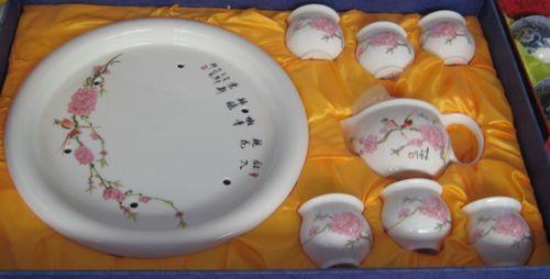 厂家直销陶瓷功夫茶具套装广告定制加印LOGO
