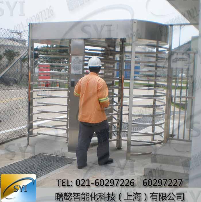 工厂进出口刷卡栅栏门,全高十字旋转门闸