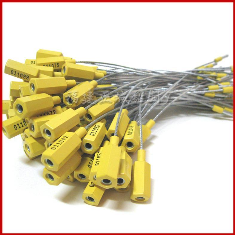 供应SL-02H插口式钢丝封条,施封锁,防盗铅封