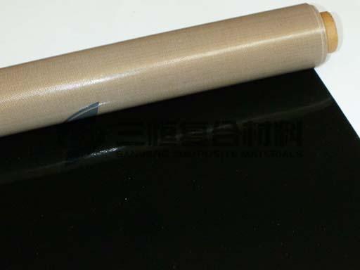 PTFE铁氟龙硅橡胶玻纤复合布,半特氟龙半硅胶玻纤布