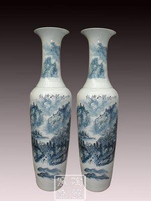 景德镇陶瓷大花瓶 中国红落地大花瓶 商务礼品花瓶
