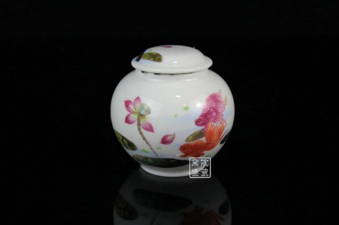 定做陶瓷密封罐茶叶罐 陶瓷蜂蜜罐 礼品瓷