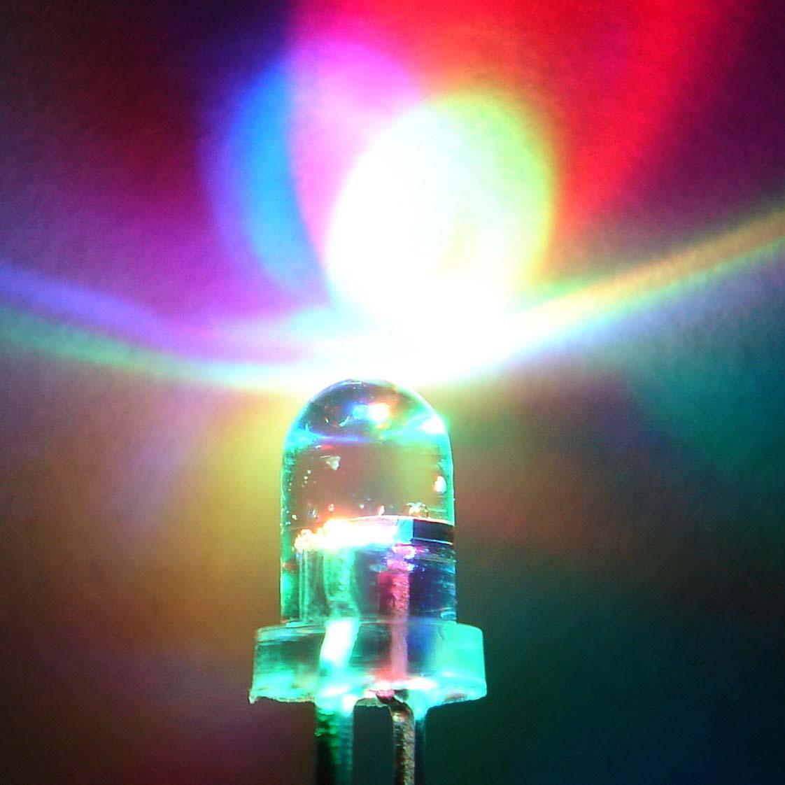 七彩灯 LED七彩灯 七彩LED灯 七彩发光二极管