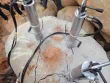 花岗岩破拆不准备爆破炮锤打得慢我推介液压膨胀机
