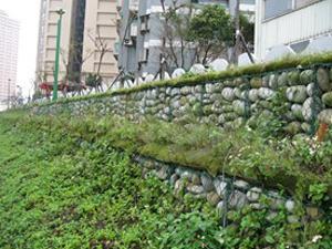 江苏宿迁防护格宾网美化园林已成为旅游的一大亮点
