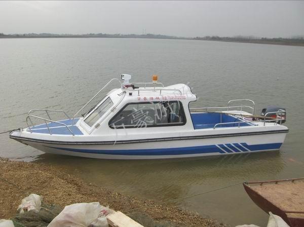 万豪游艇/600半棚式游艇/玻璃钢巡逻艇