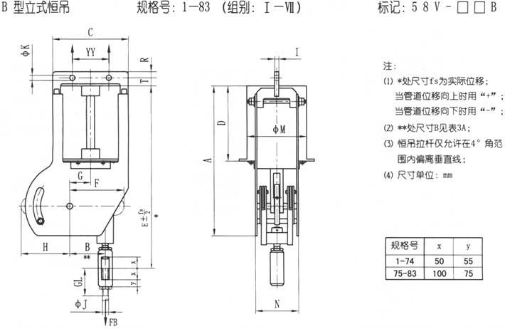 JB/T 8130.1-1999恒力弹簧支吊架