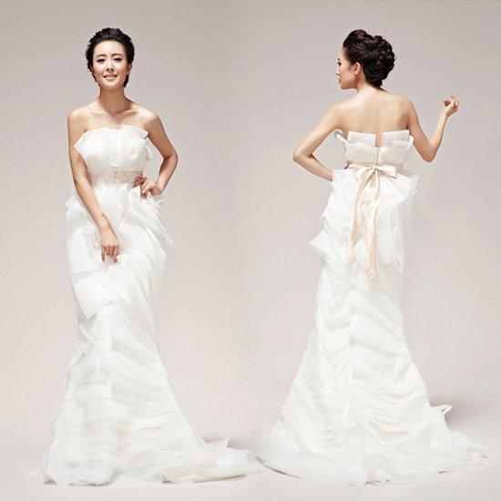 太原婚纱礼服定制布料和款式的选择