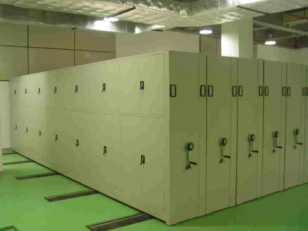 移动档案密集柜-资料密集架