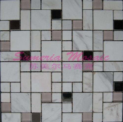 古浪县天然石材马赛克专业厂家 客厅酒店石材背景墙装饰