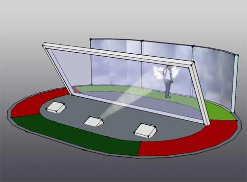 幻象膜 全息成像膜 360成像玻璃