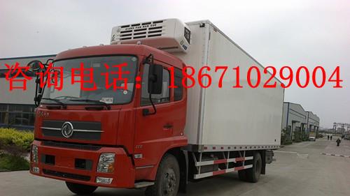 15吨载货量的东风厢式冷藏车保温车