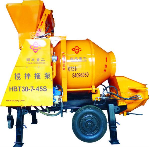小型混凝土输送泵 搅拌拖泵 圆志重工18073105691