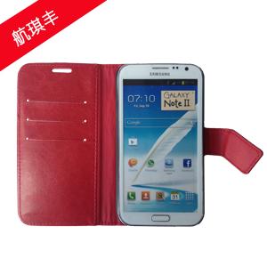 三星note2/n7100红色手机皮套