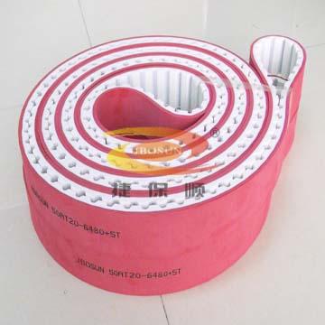 食品机械同步带特殊加红胶同步带