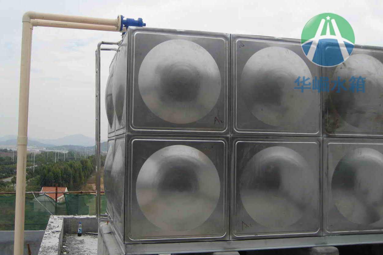 郴州不锈钢水箱厂 圆形不锈钢水箱 华崛不锈钢保温水箱