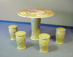 正宗景德镇瓷桌瓷凳,陶瓷凳子,园林座椅