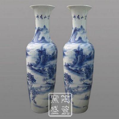 供应酒店装饰摆件,陶瓷3米高落地大花瓶