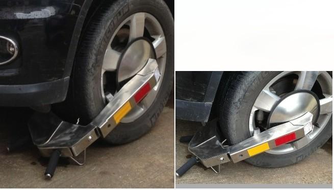 含邮含税 不锈钢车轮锁 汽车车轮锁