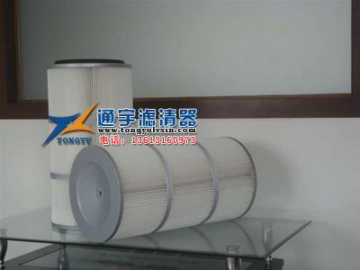 供应聚酯纤维滤筒(覆膜)高效过滤除尘滤芯