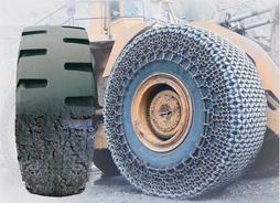 在线订购铲车轮胎保护链、铲运机保护链