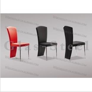 广东批发现代皮艺餐桌椅子 不锈钢餐椅 时尚简约餐椅 环保皮椅子