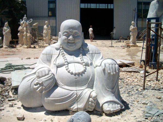 曲阳石雕汉白玉弥勒佛佛像雕塑