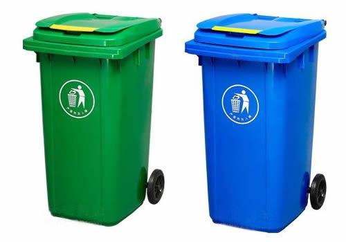 山东户外塑料垃圾桶挂车环卫垃圾箱