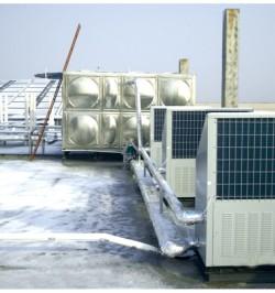 桑乐太阳能热水工程辅助设备——热泵机组